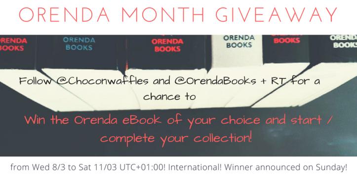 Orenda Month twitter giveaway