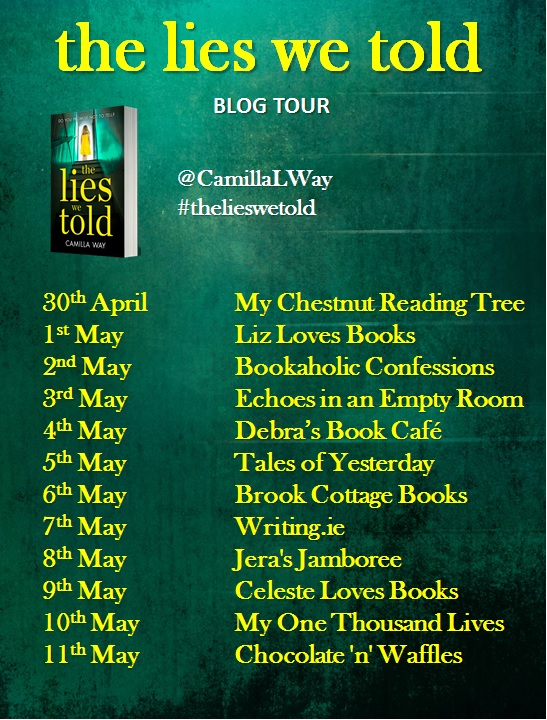 The Lies We Told blog tour banner
