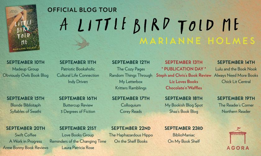 A Little Bird Told Me blog tour poster 1