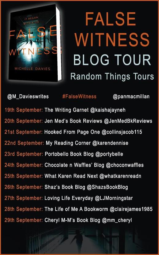 false witness blog tour banner