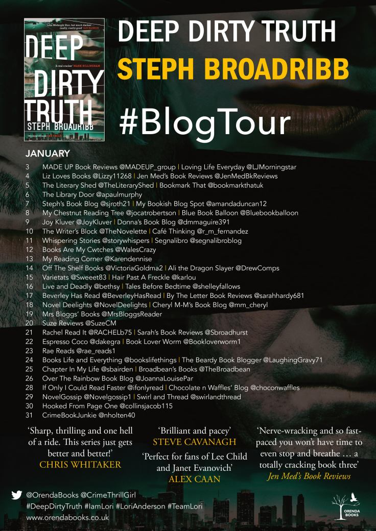 deep dirty truth blog tour poster